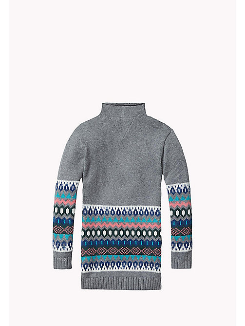 TOMMY HILFIGER Fair Isle Sweater Dress - MID GREY HTR - TOMMY HILFIGER Girls - detail image 1