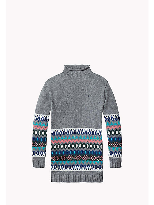 TOMMY HILFIGER Fair Isle Sweater Dress - MID GREY HTR - TOMMY HILFIGER Girls - main image
