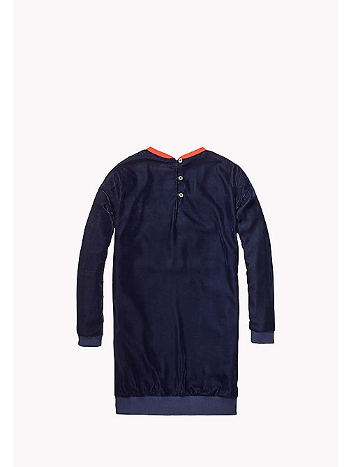 TOMMY HILFIGER Velvet Dress - NAVY BLAZER - TOMMY HILFIGER Kids - detail image 1
