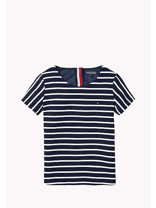 TOMMY HILFIGER Striped Top - NAVY BLAZER - TOMMY HILFIGER Girls - main image