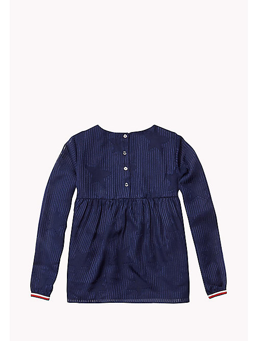TOMMY HILFIGER DEVORE TOP L/S - NAVY BLAZER - TOMMY HILFIGER Girls - detail image 1