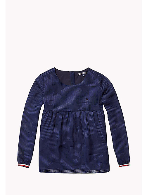 TOMMY HILFIGER DEVORE TOP L/S - NAVY BLAZER - TOMMY HILFIGER Girls - main image