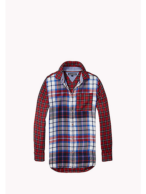 TOMMY HILFIGER Plaid Patch Shirt - SALSA - TOMMY HILFIGER Girls - main image