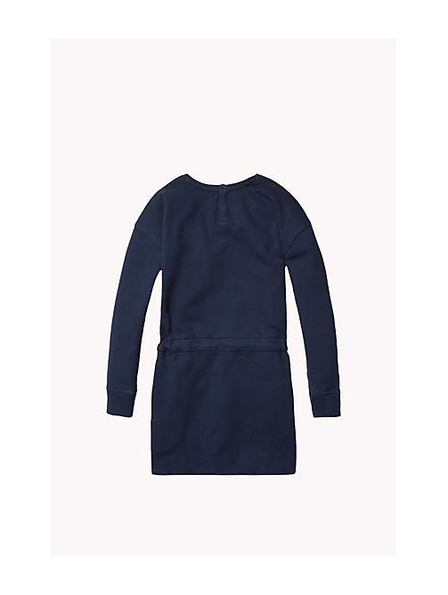TOMMY HILFIGER Cotton Crew Neck Dress - NAVY BLAZER - TOMMY HILFIGER Girls - detail image 1