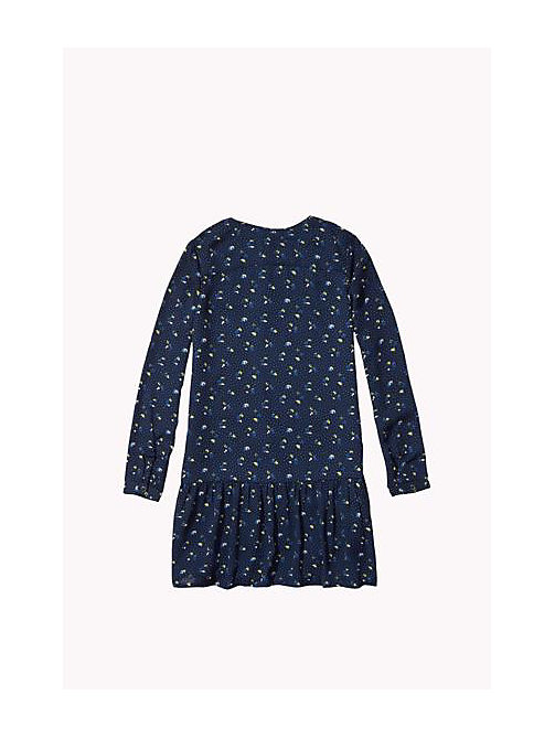 TOMMY HILFIGER Floral Printed Dress - NAVY BLAZER - TOMMY HILFIGER Girls - detail image 1
