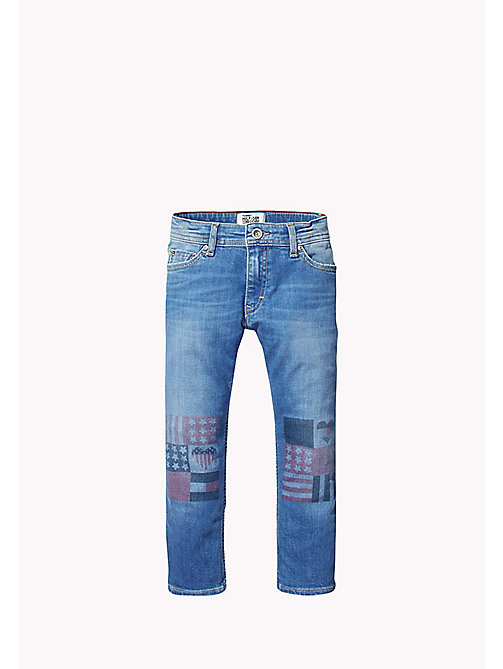TOMMY HILFIGER Printed Straight Fit Jeans - FLAG PRINTED - TOMMY HILFIGER Girls - main image