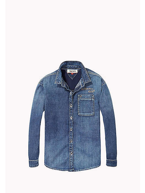 TOMMY HILFIGER Regular Fit Denim Shirt - CLASSIC SIMPLY BLUE - TOMMY HILFIGER Girls - main image