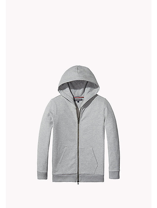 TOMMY HILFIGER Cotton Blend Hoodie - GREY HEATHER - TOMMY HILFIGER Kids - main image