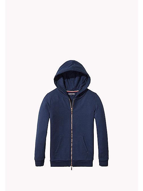 TOMMY HILFIGER Cotton Blend Hoodie - NAVY BLAZER - TOMMY HILFIGER Kids - main image