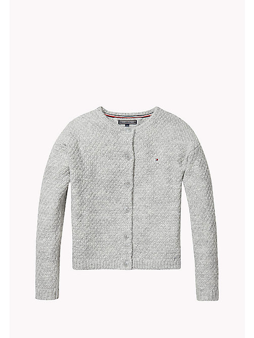 TOMMY HILFIGER Textured Knit Cardigan - GREY HEATHER - TOMMY HILFIGER Kids - main image