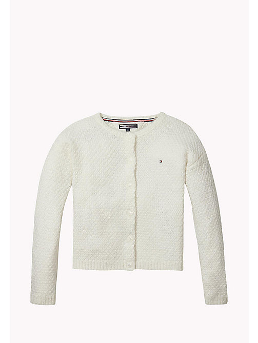 TOMMY HILFIGER Textured Knit Cardigan - MARSHMALLOW - TOMMY HILFIGER Kids - main image