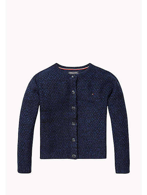TOMMY HILFIGER Textured Knit Cardigan - NAVY BLAZER - TOMMY HILFIGER Kids - main image