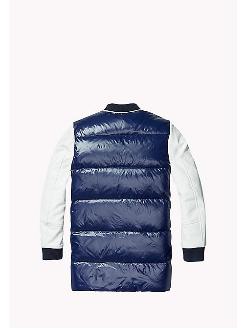 TOMMY HILFIGER Long Down Bomber - MEDIEVAL BLUE / BRIGHT WHITE - TOMMY HILFIGER Girls - detail image 1