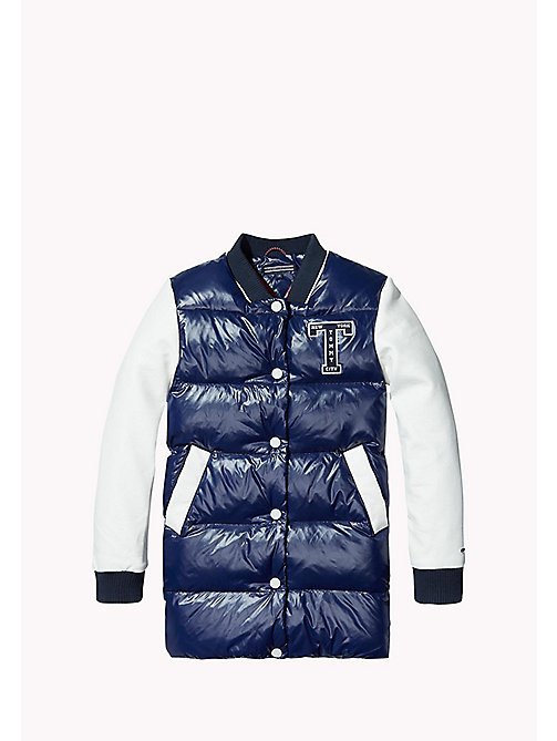 TOMMY HILFIGER Long Down Bomber - MEDIEVAL BLUE / BRIGHT WHITE - TOMMY HILFIGER Girls - main image