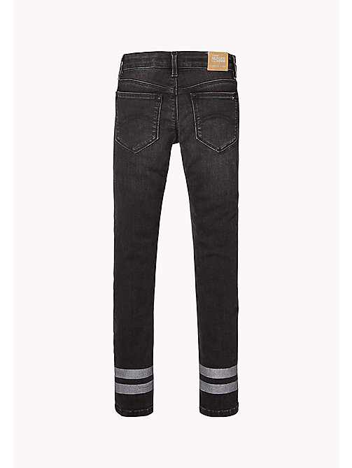 TOMMY HILFIGER Skinny Fit Jeans - BLACK STRIPE GLITTER STRETCH - TOMMY HILFIGER Girls - detail image 1