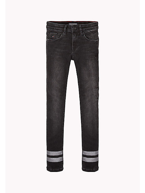 TOMMY HILFIGER Skinny Fit Jeans - BLACK STRIPE GLITTER STRETCH - TOMMY HILFIGER Girls - main image