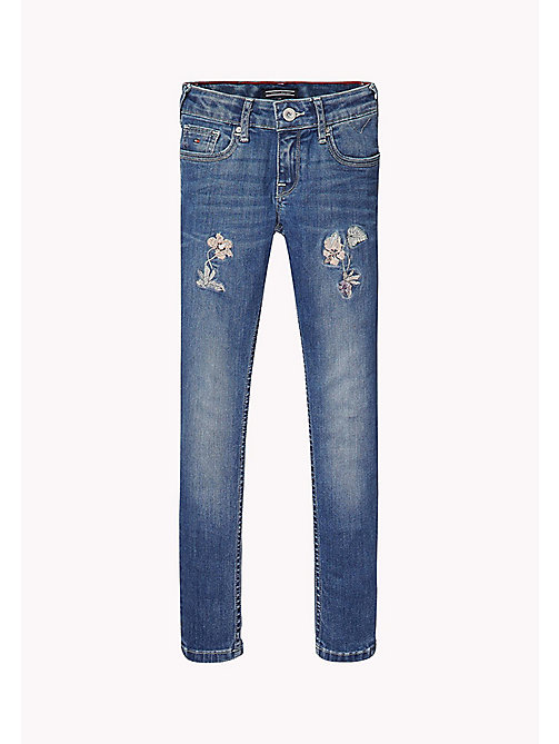 TOMMY HILFIGER Skinny Fit Jeans - NEVADA MID BLUE STRETCH - TOMMY HILFIGER Girls - main image