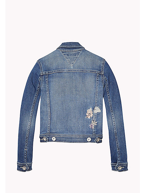 TOMMY HILFIGER Embroidered Denim Jacket - NEVADA MID BLUE STRETCH - TOMMY HILFIGER Girls - detail image 1