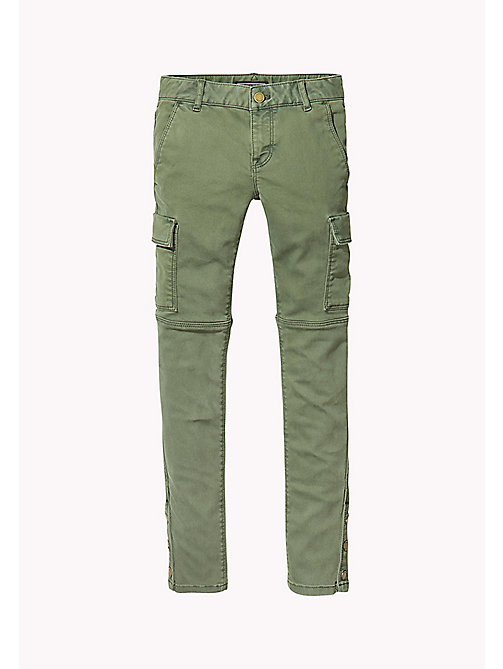 TOMMY HILFIGER Skinny Fit Utility Trousers - THYME - TOMMY HILFIGER Trousers, Shorts & Skirts - main image