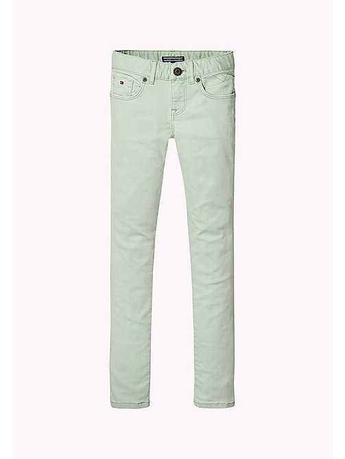 TOMMY HILFIGER Skinny Fit Colour Wash Jeans - AQUA FOAM - TOMMY HILFIGER Girls - main image