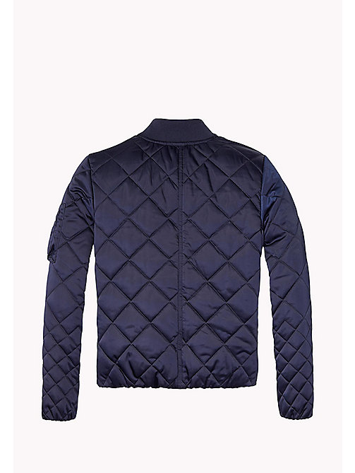 TOMMY HILFIGER Quilted Bomber Jacket - BLACK IRIS - TOMMY HILFIGER Girls - detail image 1