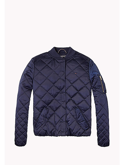 TOMMY HILFIGER Quilted Bomber Jacket - BLACK IRIS - TOMMY HILFIGER Girls - main image