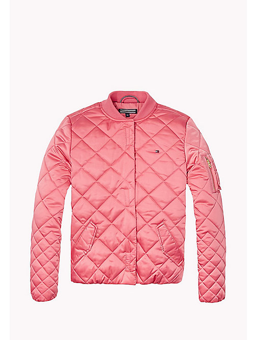 TOMMY HILFIGER Quilted Bomber Jacket - CONFETTI -  Girls - main image