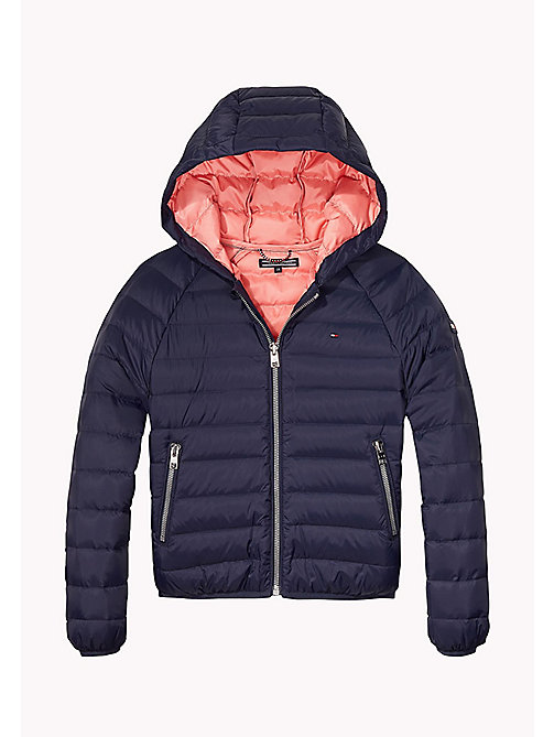 TOMMY HILFIGER Lightweight Cropped Down Jacket - BLACK IRIS - TOMMY HILFIGER Coats & Jackets - main image