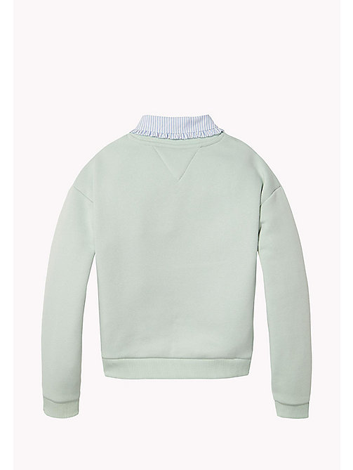TOMMY HILFIGER Detachable Collar Sweatshirt - AQUA FOAM - TOMMY HILFIGER Sweatshirts & Hoodies - detail image 1