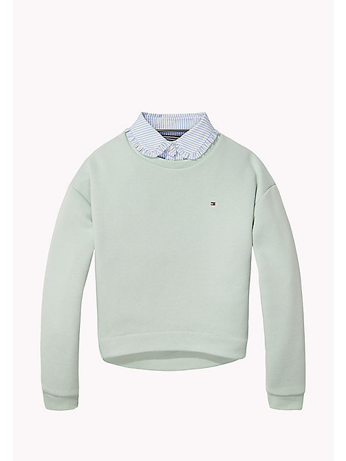 TOMMY HILFIGER Detachable Collar Sweatshirt - AQUA FOAM - TOMMY HILFIGER Sweatshirts & Hoodies - main image