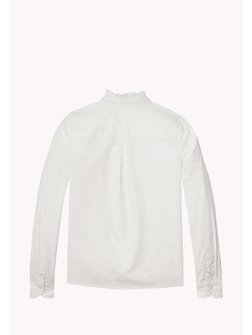 TOMMY HILFIGER Ruffle Collar Shirt - BRIGHT WHITE - TOMMY HILFIGER Tops & T-shirts - detail image 1