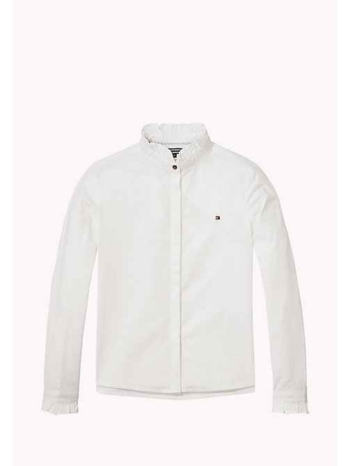 TOMMY HILFIGER Ruffle Collar Shirt - BRIGHT WHITE - TOMMY HILFIGER Tops & T-shirts - main image