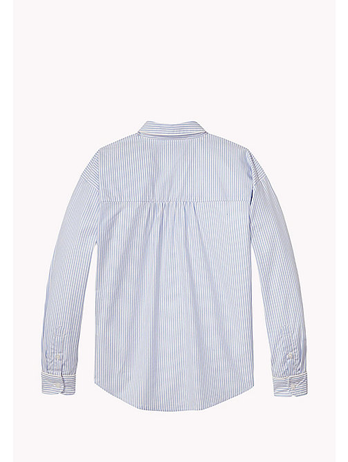 TOMMY HILFIGER Striped Cotton Shirt - SERENITY - TOMMY HILFIGER Tops & T-shirts - detail image 1