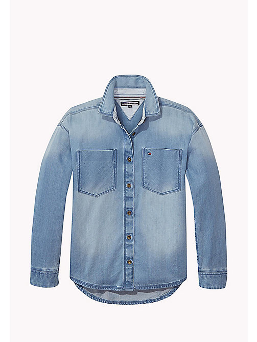 TOMMY HILFIGER DENIM SHIRT L/S - LIGHT INDIGO - TOMMY HILFIGER Топы - главное изображение