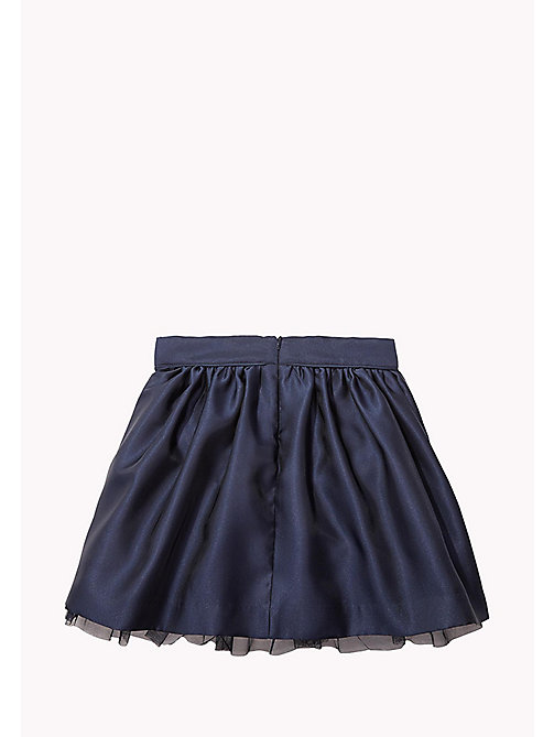 TOMMY HILFIGER A-Line Satin Skirt - BLACK IRIS - TOMMY HILFIGER Trousers, Shorts & Skirts - detail image 1