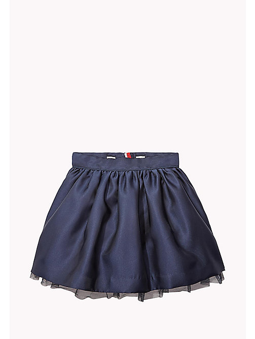 TOMMY HILFIGER A-Line Satin Skirt - BLACK IRIS - TOMMY HILFIGER Trousers, Shorts & Skirts - main image