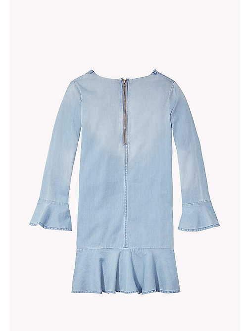 TOMMY HILFIGER Flared Cuff Denim Dress - LIGHT INDIGO - TOMMY HILFIGER Girls - detail image 1