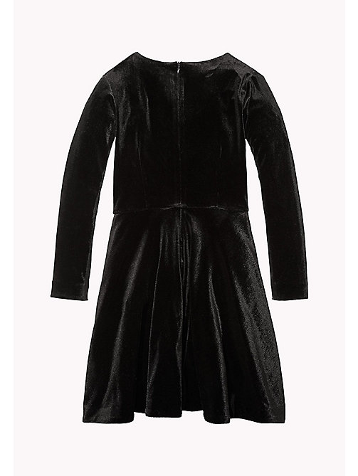 TOMMY HILFIGER Velvet Dress - BLACK BEAUTY - TOMMY HILFIGER Girls - detail image 1