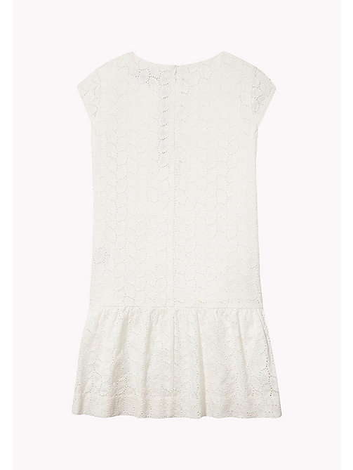 TOMMY HILFIGER Broderie Cotton Dress - BRIGHT WHITE - TOMMY HILFIGER Girls - detail image 1