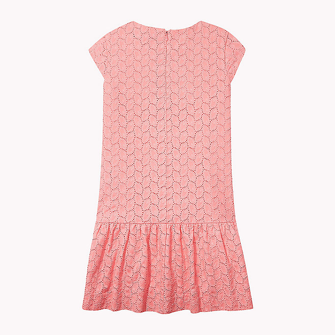 TOMMY HILFIGER Broderie Cotton Dress - BRIGHT WHITE - TOMMY HILFIGER Kids - detail image 1