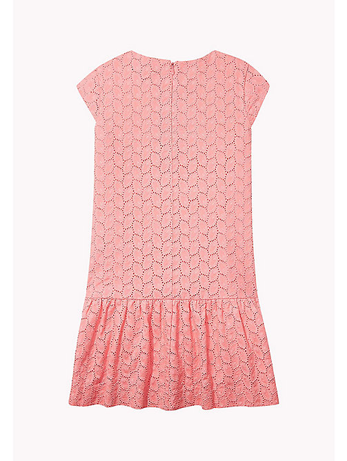 TOMMY HILFIGER Broderie Cotton Dress - CONFETTI - TOMMY HILFIGER Girls - detail image 1