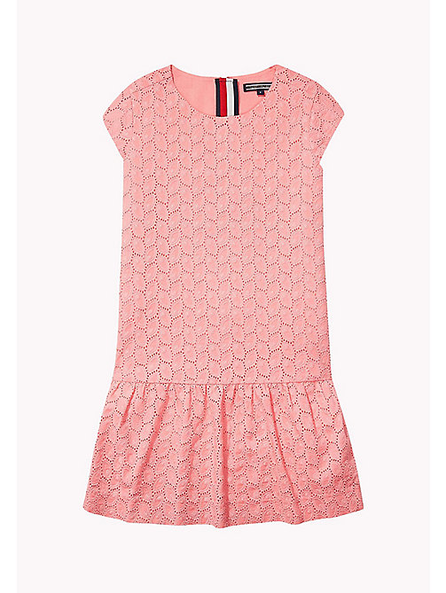 TOMMY HILFIGER Broderie Cotton Dress - CONFETTI - TOMMY HILFIGER Girls - main image