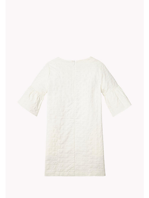 TOMMY HILFIGER Flared Cuff Shift Dress - BRIGHT WHITE - TOMMY HILFIGER Girls - detail image 1
