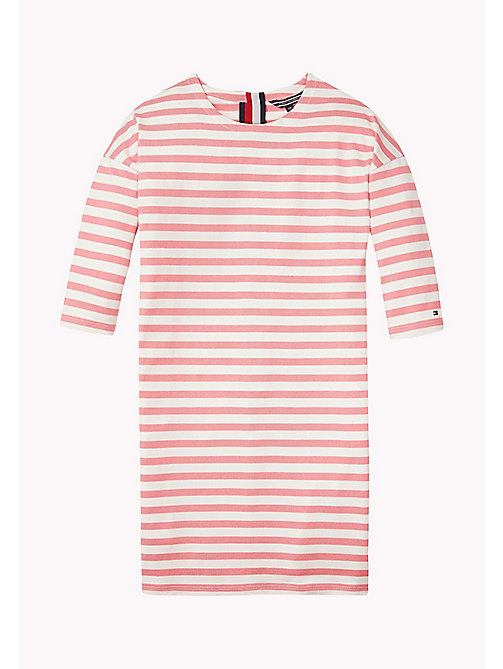 TOMMY HILFIGER Striped Jersey Dress - CONFETTI - TOMMY HILFIGER Girls - main image