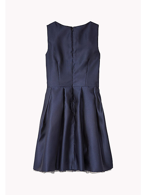 TOMMY HILFIGER Sleeveless Satin Dress - BLACK IRIS - TOMMY HILFIGER Kids - detail image 1