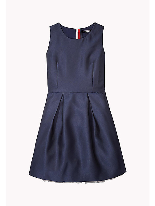 TOMMY HILFIGER Sleeveless Satin Dress - BLACK IRIS - TOMMY HILFIGER Kids - main image