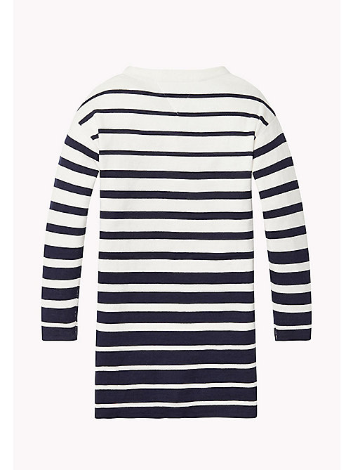 TOMMY HILFIGER Striped Sweater Dress - BLACK IRIS / BRIGHT WHITE - TOMMY HILFIGER Girls - detail image 1