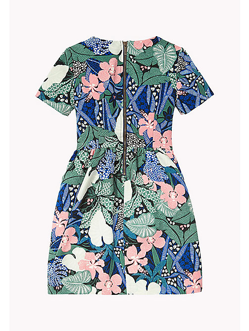 TOMMY HILFIGER FLOWER PRINT DRESS S/S - NAVY BLAZER - TOMMY HILFIGER Платья - подробное изображение 1