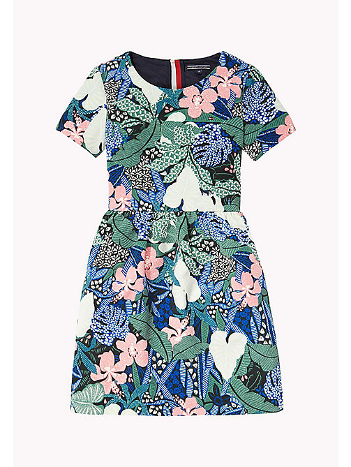 TOMMY HILFIGER FLOWER PRINT DRESS S/S - NAVY BLAZER - TOMMY HILFIGER Платья - главное изображение