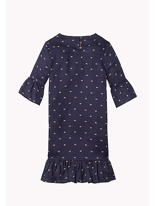 TOMMY HILFIGER Printed Flared Cuff Dress - BLACK IRIS - TOMMY HILFIGER Girls - detail image 1